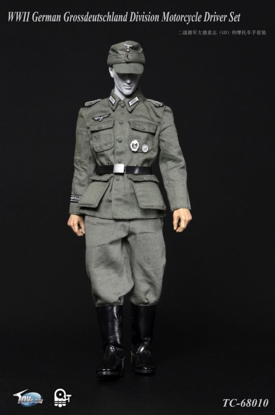 German Grossdeutschland Division Motorcycle Driver Set TOYs CITY