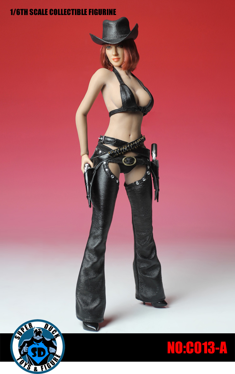ACPLAY 1:6 Cowgirl Female Clothing Set in Black for Phicen Hot toys Figures 12B