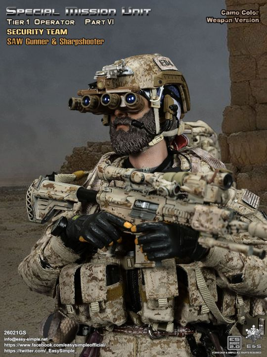 1//6 Scale SMU Part VI Security Team Version American Flag Head Scarf Camo
