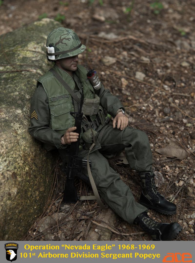 Y69-38 1//6 scale ACE Vietnam war-101st Airborne Popeye M3 Bandolier /& Magazines