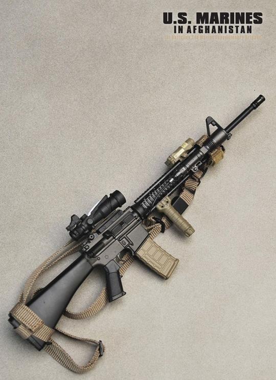 m16a4 rifle w accessories soldier story machinegun