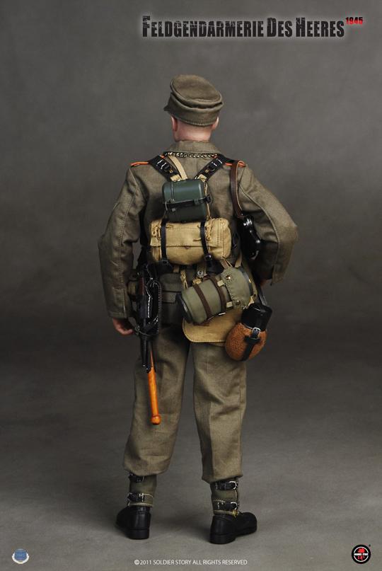 MP40 Mags x3-1//6 Scale Soldier Figures Feldgendarmerie Des Heeres