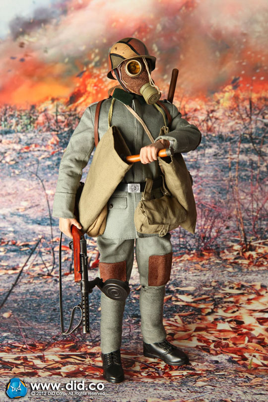 1//6 Scale Toy SS Panzer Division-Noir Combat ensemble uniforme