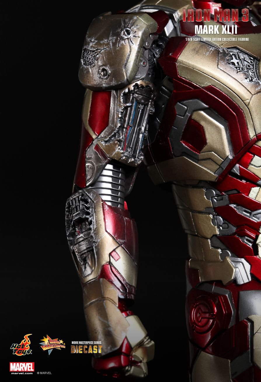 New Hot Iron Man Toys Diecast Mark XLII MK42 with LED Light 1//6th Scale Ironman