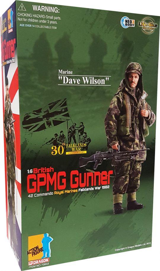 """Dragon 1//6 Scale 12/"""" British Falklands War Marine Gunner Dave Wilson 70843"""